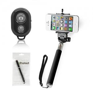 iProtect Selfie Stange mit Smartphone-Halterung