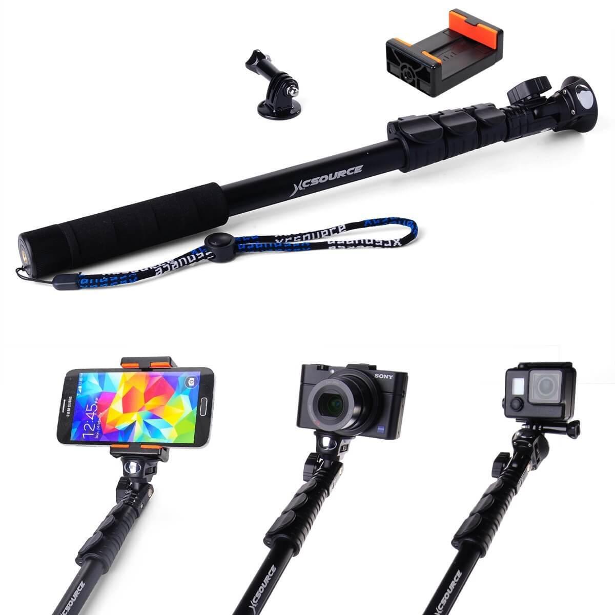 XCSOURCE Selfie Stick mit Smartphone-Halterung